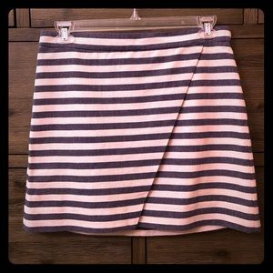 J. Crew Stripped Asymmetrical Skirt